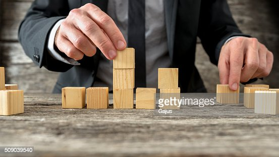 Concept of business strategy and planning : Stock Photo