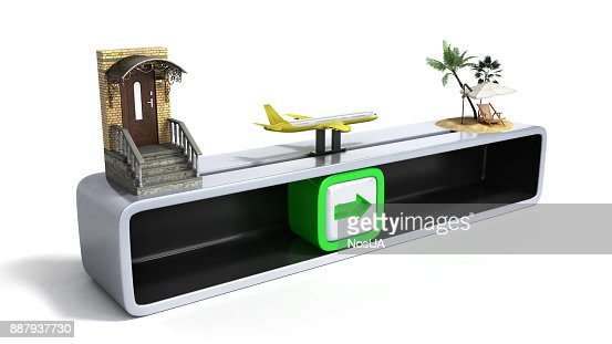 concept of fast order of fsat travel 3d render on white : Stock Photo