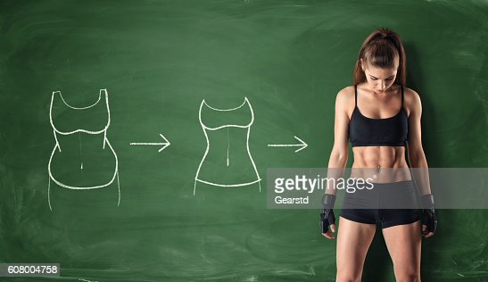 Concept of how a girl's body changing : Stock Photo