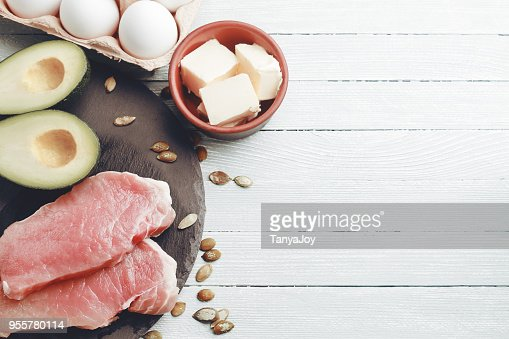 Concept of ketogenic diet : Stock Photo