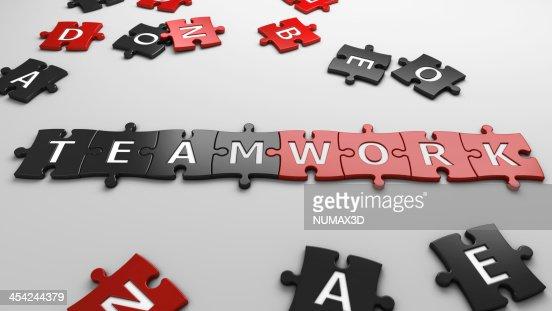 concept teamwork : Stock Photo