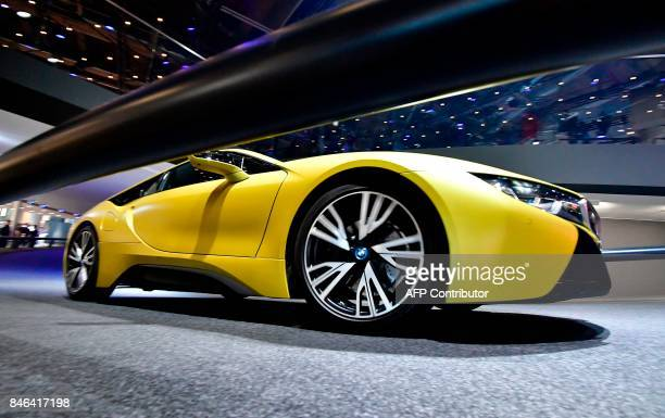 A BMW concept Z4 car is presented at the Frankfurt Auto Show IAA in Frankfurt am Main Germany on September 13 2017 According to organisers around...
