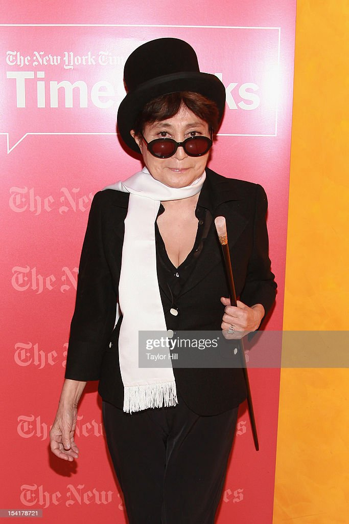 Conceptual artist Yoko Ono attends TimesTalks: A Conversation With Yoko Ono at The Times Center on October 15, 2012 in New York City.