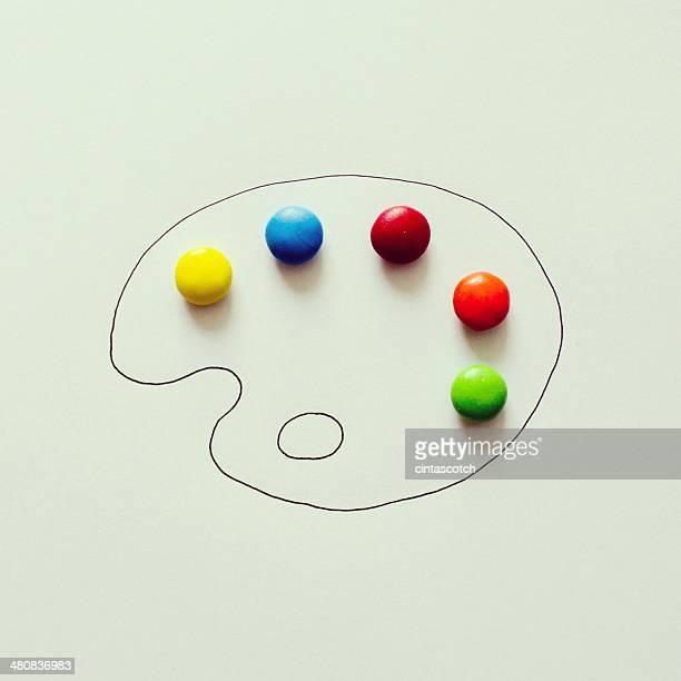 Conceptual artist's paint palette