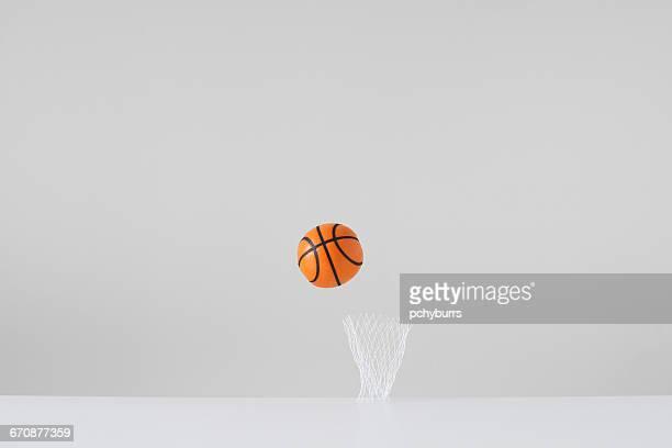 Conceptual basketball and net