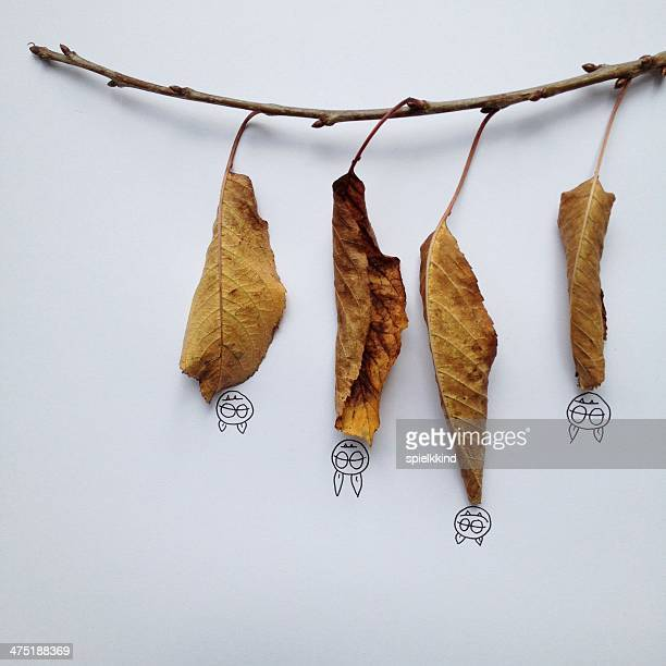 Conceptual bats hanging upside down