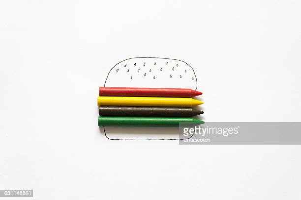 Conceptual drawing of a burger