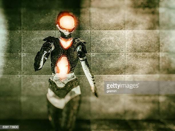 3 D immagine concettuale di futuristico cyborg