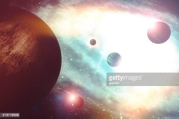 Konzeptionelle Welt und Galaxien Bild
