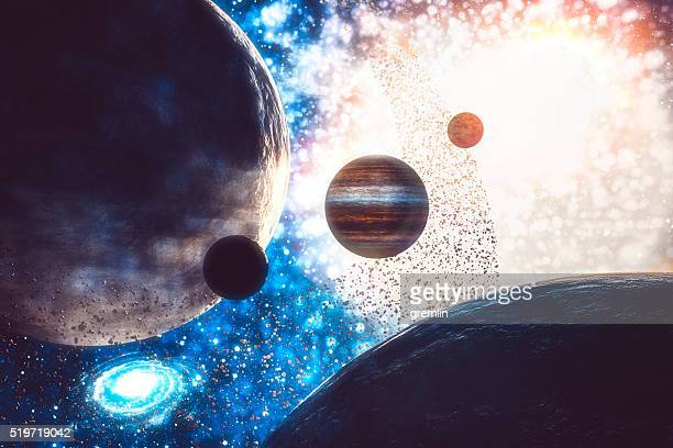 Conceptual universe and galaxies image