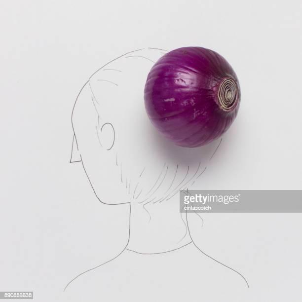 Conceptual woman with a hair bun