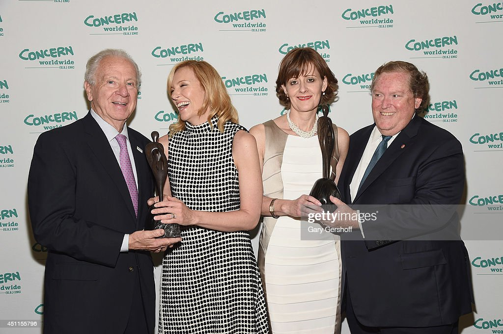 CEO, Concern Worldwide U.S., Dr. Joseph Cahalan, PhD, event honorees <a gi-track='captionPersonalityLinkClicked' href=/galleries/search?phrase=Toni+Collette&family=editorial&specificpeople=204673 ng-click='$event.stopPropagation()'>Toni Collette</a> and Siobhan Walsh, and Chairman, Concern Worldwide U.S. Thomas J. Moran attend the 12th 'Annual Women Of Concern' awards at The Pierre Ballroom on June 24, 2014 in New York City.