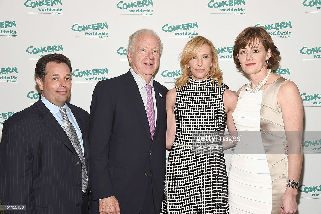 COO, Concern Worldwide U.S. Michael Schreiber, CEO, Concern Worldwide U.S. Dr. Joseph Cahalan, PhD, and event honorees <a gi-track='captionPersonalityLinkClicked' href=/galleries/search?phrase=Toni+Collette&family=editorial&specificpeople=204673 ng-click='$event.stopPropagation()'>Toni Collette</a> and Siobhan Walsh attend the 12th 'Annual Women Of Concern' awards at The Pierre Ballroom on June 24, 2014 in New York City.