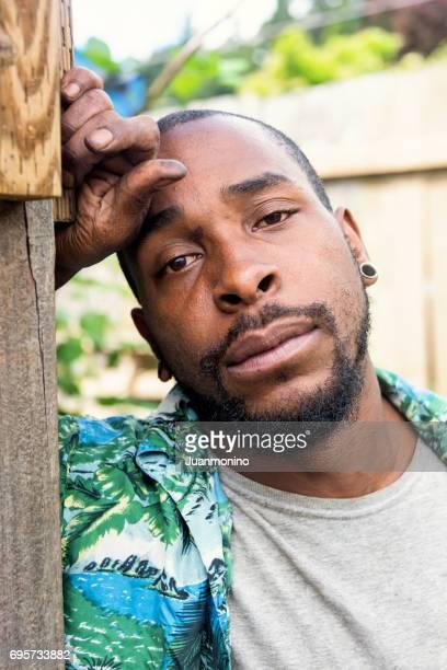 betreffenden Afro Karibik Mann