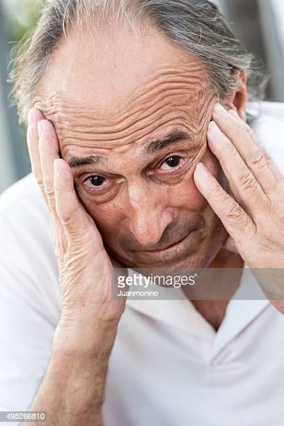 Betroffenen Senior Mann