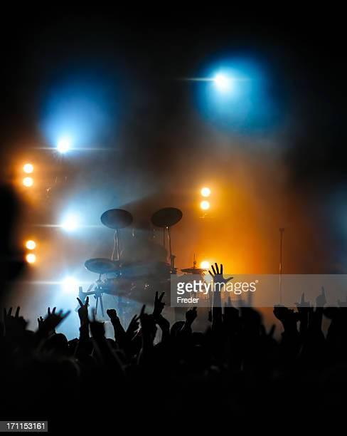 concert crowd in front of drummer