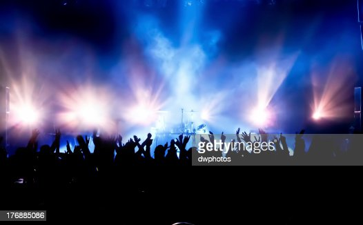 Multitud de conciertos : Foto de stock