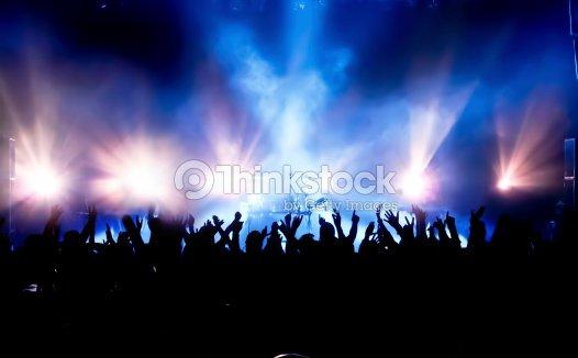 Multitud de conciertos : Foto de stock