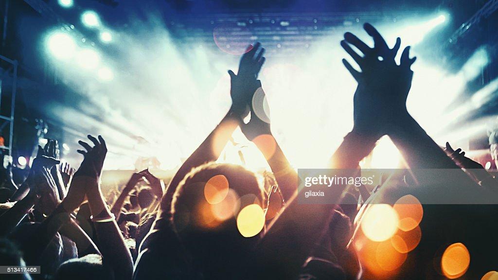 Concert crowd. : Stock Photo