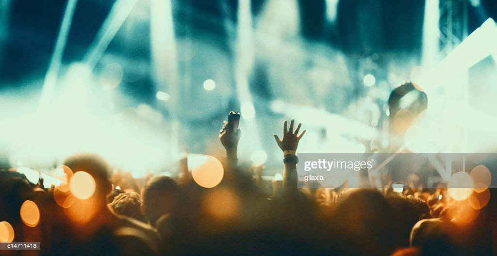 Concert crowd. : Stock Photo
