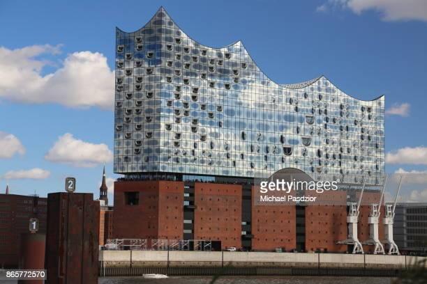 Concert hall Elbphilharmonie at blue sky