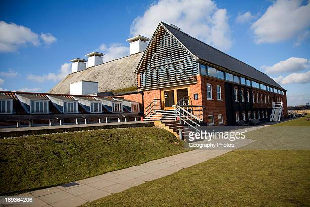 Concert Hall in converted maltings industrial buildings at Snape Suffolk England