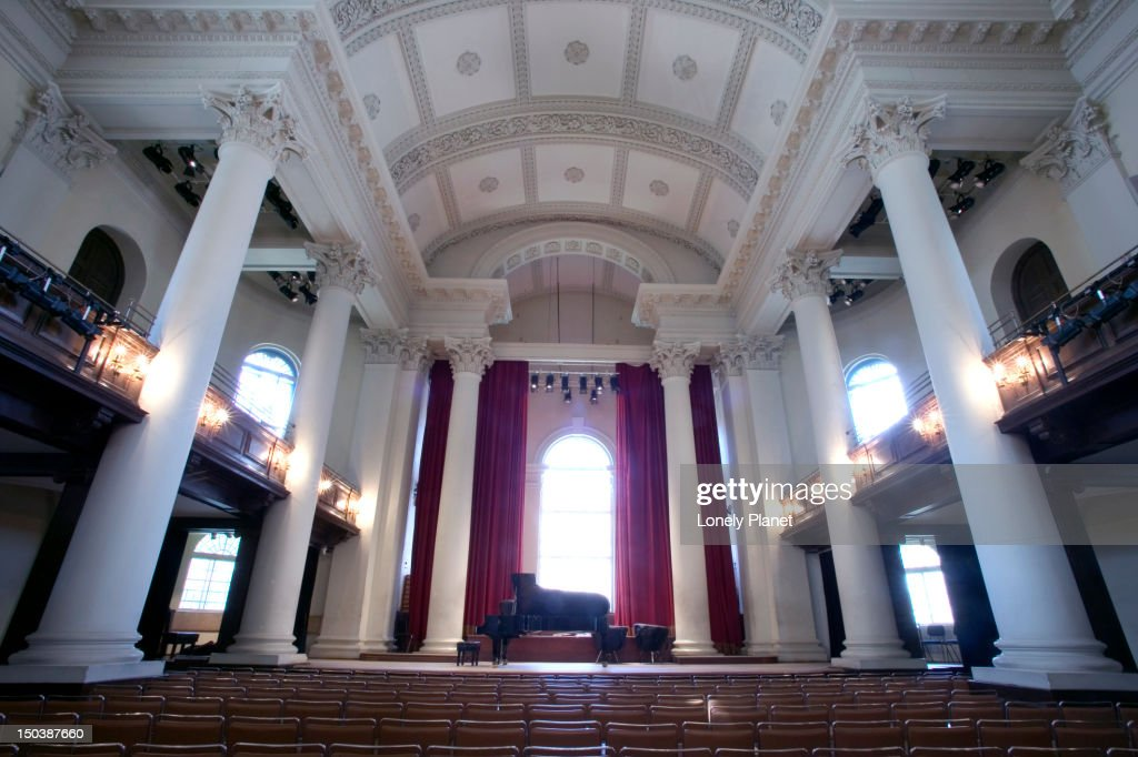 Concert hall, St John's Smith Square. : Stock Photo