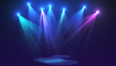 3d render concert lights for you project on very high resolution