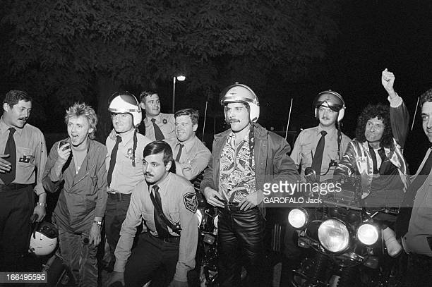 Concert Of The Band Queen Argentine 4 mars 1981 le groupe de rock anglais QUEEN en tournée en Amérique du Sud donne un concert au stade de Mar Del...