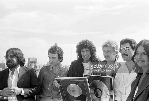 Concert Of The Band Queen Argentine 5 mars 1981 le groupe de rock anglais QUEEN en tournée en Amérique du Sud donne un concert au stade de Mar Del...