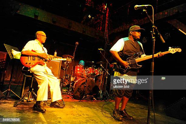 Concert of the 'Jamaican Legends' at the Fabrik in Hamburg with drummer Sly Dunbar bassist Robbie Shakespeare guitarist Ernest Ranglin and pianist...