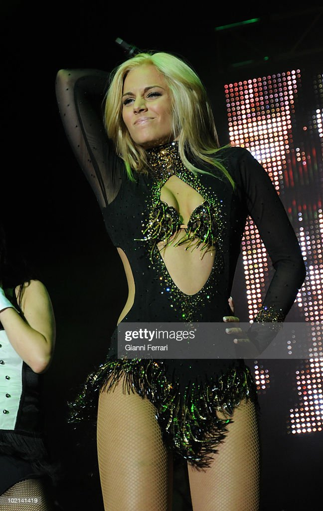 Concert of the Spanish singer Edurne, winner of the contest of news singers 'Operation Triumph' in the chain 'Telecinco', Third Juny 2010, Palacio de Congresos, Madrid, Spain.