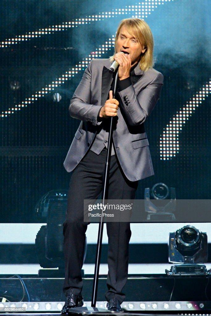 Concert of Ukrainian singer Oleg Vinnik in Kiev.