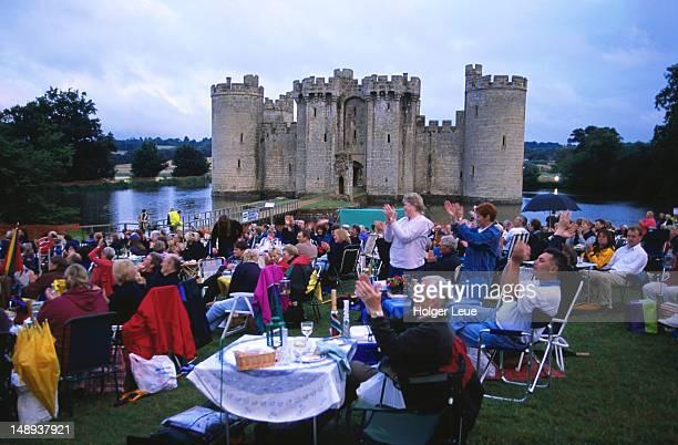 Concert picnic, Bodiam Castle.