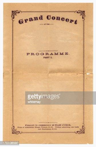 コンサートのプログラムから 1870