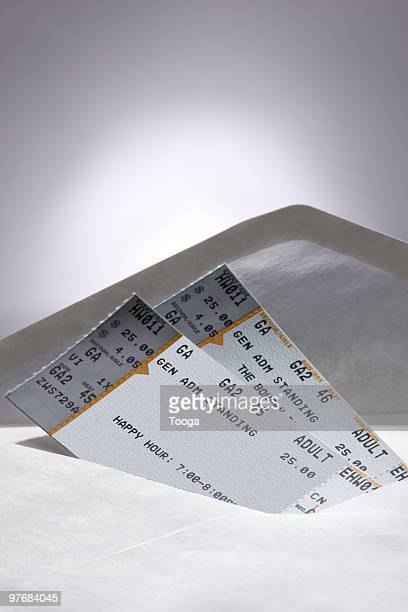 Concert tickets in envelope