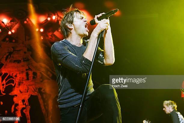 Die Toten Hosen performs on stage at the o2 World Hamburg