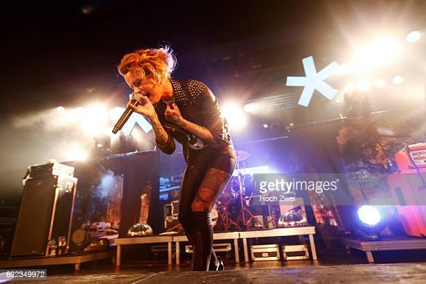 Jennifer Rostock performs on stage at the Große Freiheit 36 Hamburg