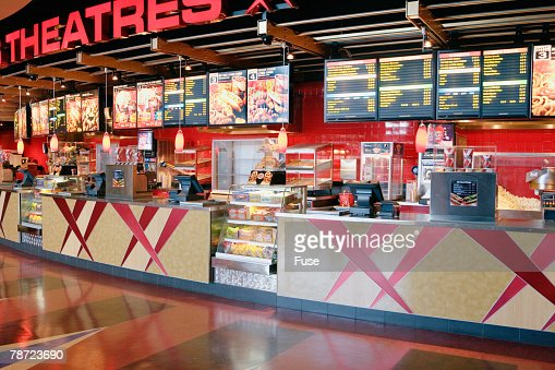 Concession Counter at Movie Theater