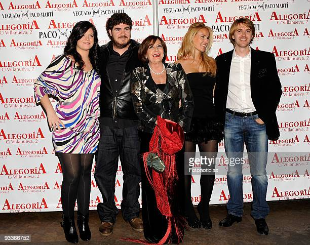 Concha Velasco and her sons Cecilia Paco and Manuel attend Concha Velasco 70th birthday party at Alegoria Club on November 24 2009 in Madrid Spain
