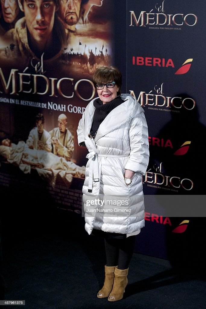 Concha Velasco attends the 'The Physician' (El Medico) premiere at Callao Cinema on December 19, 2013 in Madrid, Spain.