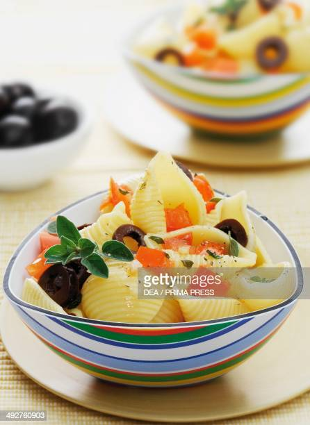 Conchiglie with olives
