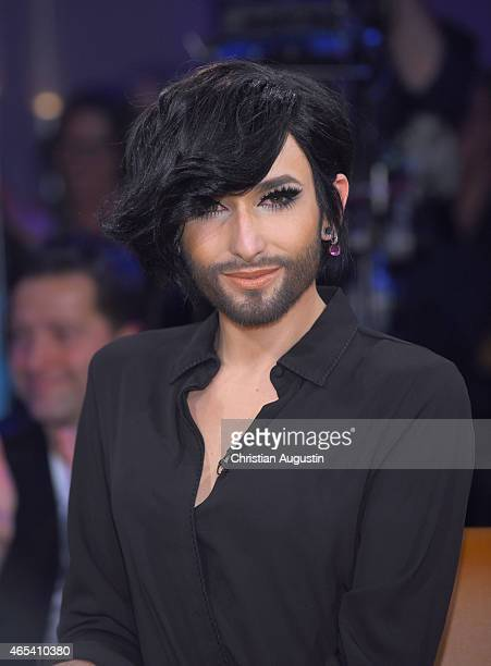 Conchita attends NDR Talkshow at NDR Studios on March 6 2015 in Hamburg Germany