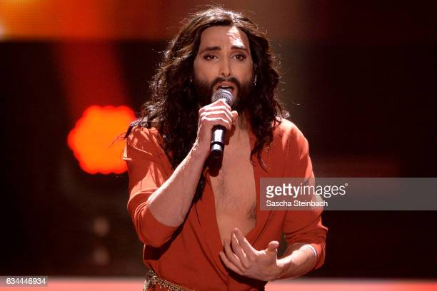Conchita attends the 'Eurovision Song Contest 2017 Unser Song' show on February 9 2017 in Cologne Germany