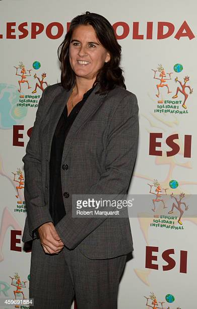 Conchita Martinez poses during a photocall for 'Esport Solidari International' awards on November 28 2014 in Barcelona Spain