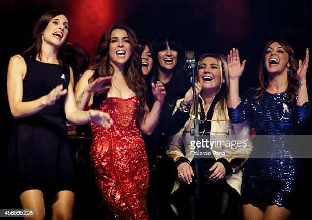 Conchita Mendivil Ruth Lorenzo Vanesa Martin Susana Alva Amaia Montero and Merche perform at the 'Cadena 100 Por Ellas' concert gala at Barclaycard...