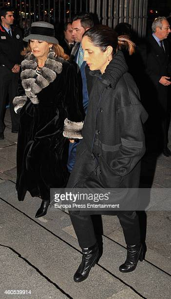 Conchita Spinola and Carolina Adriana Herrera attend memorial service for Duchess of Alba on December 15 2014 in Madrid Spain