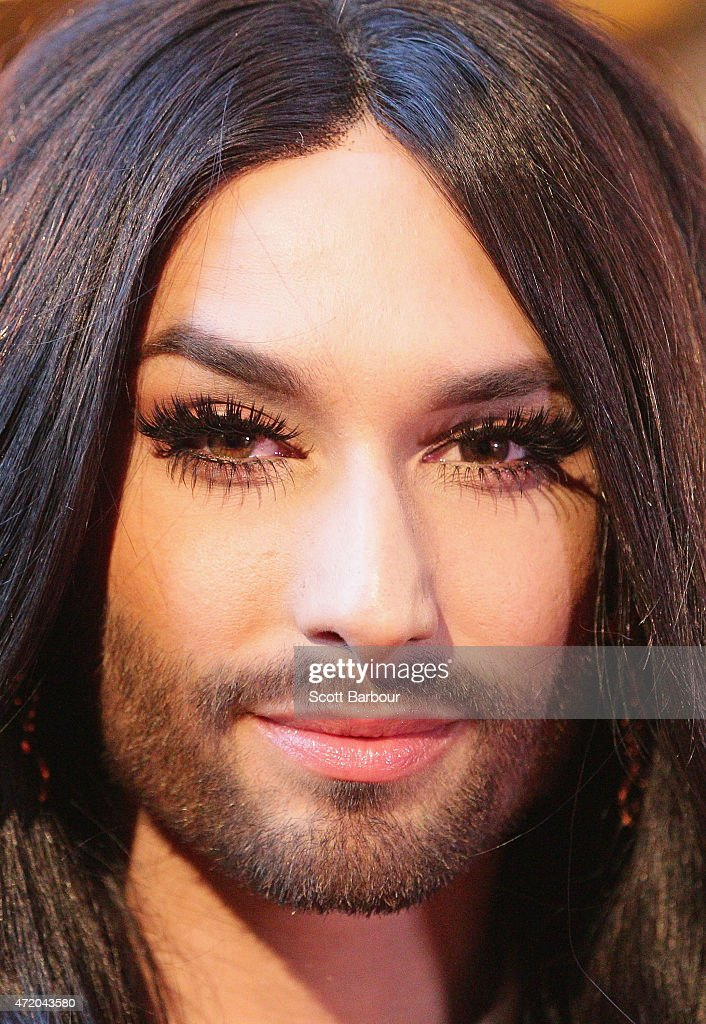 Conchita Wurst arrives at the 57th Annual Logie Awards at Crown Palladium on May 3, 2015 in Melbourne, Australia.
