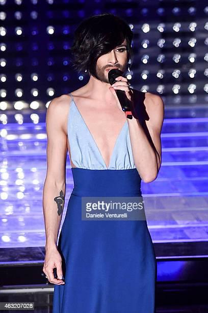 Conchita Wurst attends second night 65th Festival di Sanremo 2015 at Teatro Ariston on February 11 2015 in Sanremo Italy