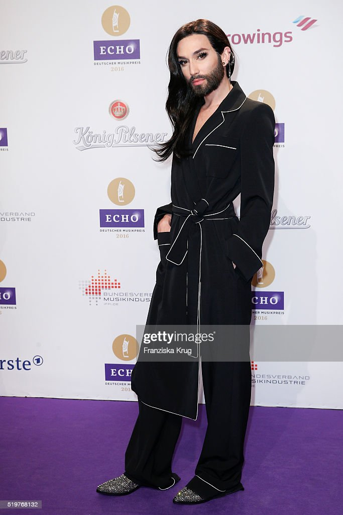 Conchita Wurst attends the Echo Award 2016 on April 07, 2016 in Berlin, Germany.